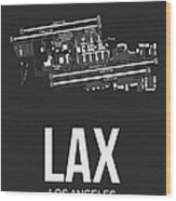 Lax Los Angeles Airport Poster 3 Wood Print