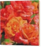 Layer Art Flowers Roses Wood Print