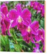 Layer Cut Out Art Flower Orchid Wood Print