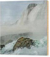 Layered Falls Wood Print