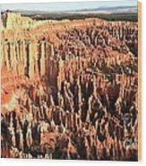 Layered Hoodoos At Bryce Canyon National Park Wood Print