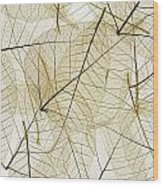 Layered Leaves Wood Print