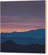 Layers - The Mojave I Wood Print