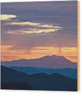 Layers - The Mojave II Wood Print
