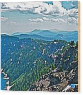 Layers Of Mountains From Watchman Overlook In Crater Lake National Park-oregon  Wood Print