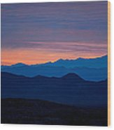 Layers - The Mojave IIi Wood Print