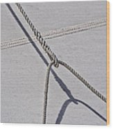 Lazy Jack-shadow And Sail Wood Print