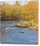 Lazy River Wood Print