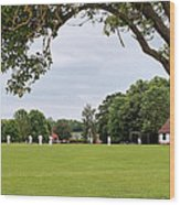 Lazy Sunday Afternoon - Cricket On The Village Green Wood Print