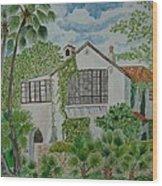 L.b. Clegg House In San Antonio Wood Print