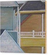 Lbi Rooftops Wood Print