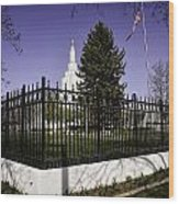 Lds Idaho Falls Temple Wood Print