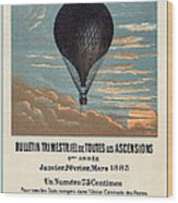 Le Ballon Advertising For French Aeronautical Journal Wood Print