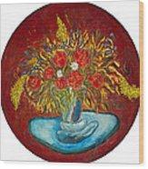 Le Bouquet Rouge - Original For Sale Wood Print