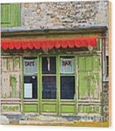 Le Cafe Bar Wood Print