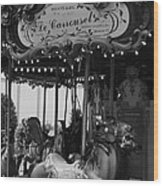Le Carrousel Wood Print