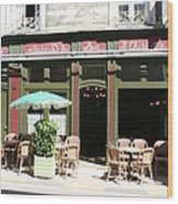 Le Charleston Bar In Tournus Wood Print