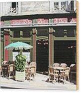 Le Charleston Bar In Tournus Wood Print