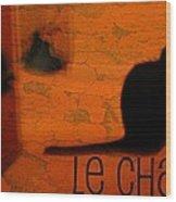 Le Chat Wood Print