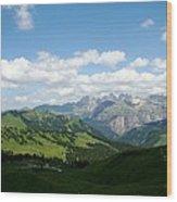 Le Dolomiti Wood Print
