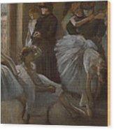 Le Foyer De L'opera Wood Print by Edgar Degas