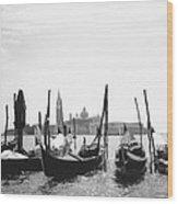 Le Gondole - Venice Wood Print
