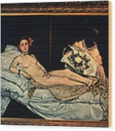 Le Grande Odalisque By Ingre Wood Print by Carl Purcell