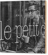 le petit cafe' Montreal Wood Print