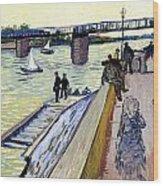 Le Pont De Trinquetaille Wood Print