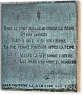 Le Pont Mirabeau Wood Print