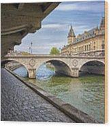 Le Pont Napoleon Paris Wood Print
