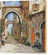 Le Porte Rosse Sulla Strada Wood Print