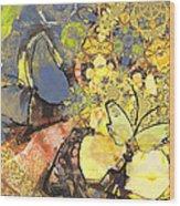 Le Printemps Des Papillons Wood Print