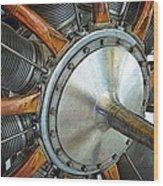 Le Rhone C-9j Engine Wood Print