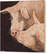 Le Smooch Wood Print by Will Bullas