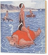 Le Sourire 1930s France Holidays Wood Print
