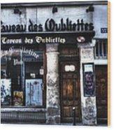 Le Taveau Des Oubliettes Paris France Wood Print