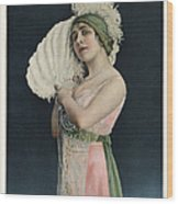 Le Theatre 1912 1910s France Mlle Wood Print by The Advertising Archives