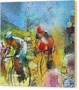 Le Tour De France 01 Wood Print