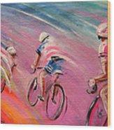 Le Tour De France 16 Acrylics Wood Print