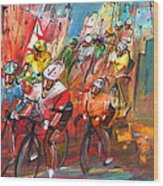 Le Tour De France Madness 04 Wood Print