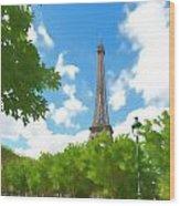 Le Tour Eiffel Wood Print