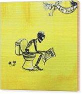 Le Tub I Wood Print by Heather Calderon
