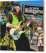 Lead Guitarist Jimmy Dence - The Fabulous Kingpins Wood Print
