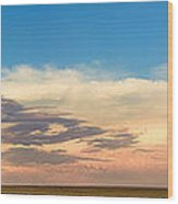 Leading Edge Storm Front And Moon Panorama Wood Print