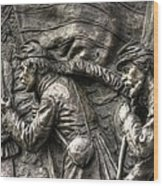 Leading The Way - State Of Delaware Monument Detail-j Gettysburg Wood Print