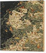 Leaf Abstract Ode To Klimt Wood Print