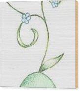 Leaf Chibi Wood Print