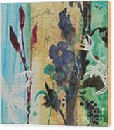 Leaf Flower Berry Wood Print