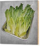 Leaf Lettuce Wood Print by Andee Design